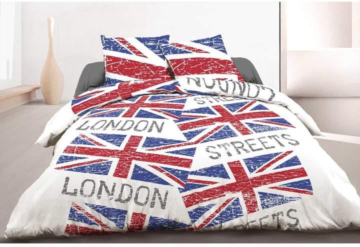 Sweet Home London Street - Bettwäsche 3-teilig - rot