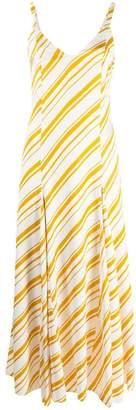 Racil diagonal stripe flared dress
