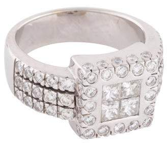 Ring 18K Diamond Cluster Cocktail