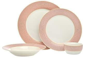 Godinger 16-Piece Gustav Dinnerware Set - Red Dots