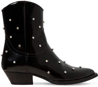 Chiara Ferragni 40mm Embellished Faux Leather Boots