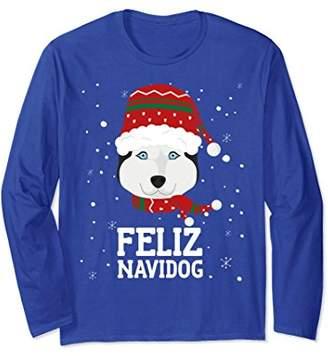 Christmas Dog - Feliz Navidog Husky Long Sleeve Shirt