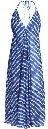Tory Burch Tie-Dyed Cotton-Jersey Halterneck Coverup