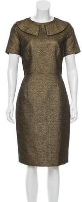 Rolando Santana Jacquard Sheath Dress w/ Tags