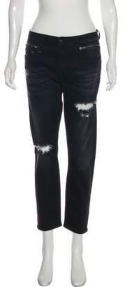 R 13 Biker Boy Mid-Rise Distressed Jeans w/ Tags
