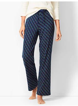 Talbots Drawcord Pajama Pants - Holiday Lights