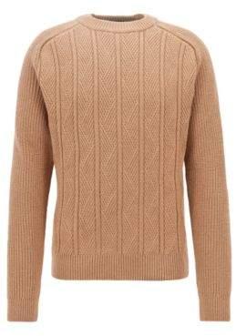 BOSS Hugo Aran sweater in virgin wool silk & cashmere M Beige