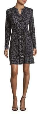 MICHAEL Michael Kors Leopard Print Button Down Dress
