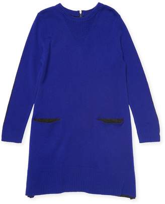 Autumn Cashmere Wool-Cashmere Sweater Dress