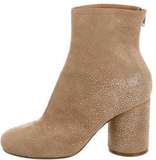 Maison Martin Margiela Suede Embellished Ankle Boots $325 thestylecure.com