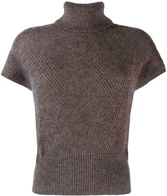 Brunello Cucinelli knitted roll neck top