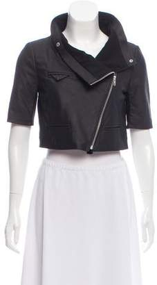 Yigal Azrouel Leather Cropped Jacket