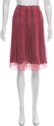 Philosophy di Alberta Ferretti Raw-Edge Trim Silk Skirt w/ Tags