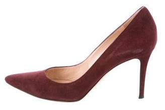 Gianvito Rossi Pointed-Toe Suede Pumps