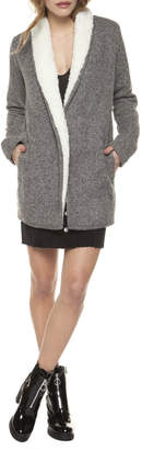 Dex Sherpa Lined Open Cardi Jacket