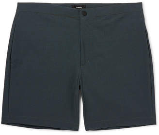 Theory Slim-Fit Mid-Length Printed Swim Shorts - Green