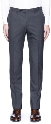 Houndstooth slim fit wool pants