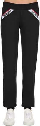 Moschino Logo Band Cotton Sweatpants