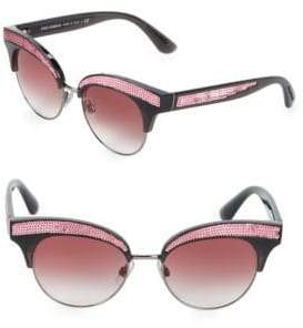 Dolce & Gabbana 50MM Sequin Trim Cateye Sunglasses