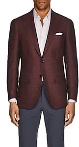 Kiton Men's KB Cashmere-Blend Two-Button Sportcoat - Wine