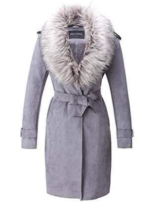 Bellivera Women's Faux Suede Long Jacket