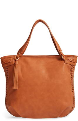 Sole Society Tara Braided Faux Leather Hobo