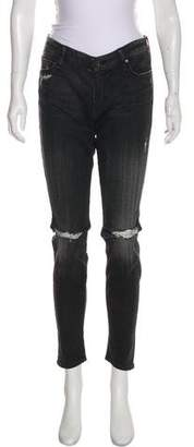 Mother x Revolve Mid-Rise Skinny Jeans