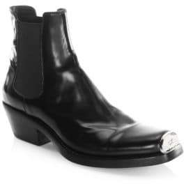 CALVIN KLEIN 205W39NYC Claire Leather Booties