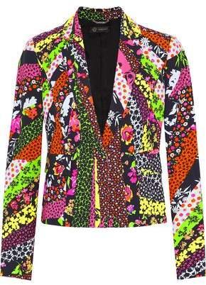 Versace Printed Crepe Blazer