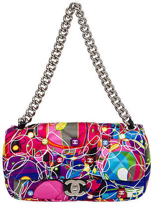 One Kings Lane Vintage Chanel Multicolor Silk Quilted Flap Bag