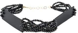18K Black Spinel & Rubber Bead Bracelet