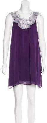 Alice + Olivia Sleeveless Silk Dress