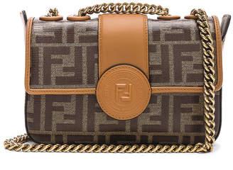 Fendi Logo Chain Crossbody Bag in Brown | FWRD