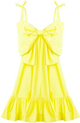 MSGM summer bow ruched dress