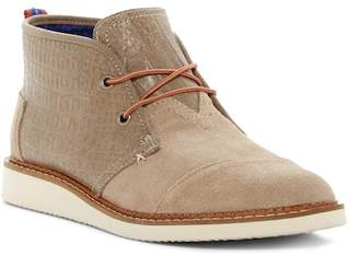 Toms Mateo Croc Embossed Leather Chukka Boot