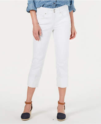 Style&Co. Style & Co Cotton Petite Cuffed Capri Pants