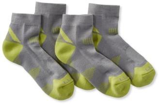 L.L. Bean L.L.Bean All-Sport PrimaLoft Socks, Lightweight Quarter-Crew Two-Pack