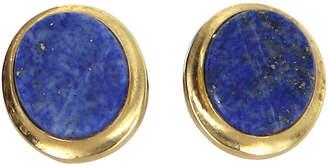 One Kings Lane Vintage Oval Lapis Lazuli Stud Earrings