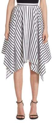 ADAM by Adam Lippes Striped Asymmetric Skirt