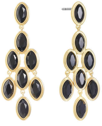 MONET JEWELRY Monet Jewelry Black Chandelier Earrings