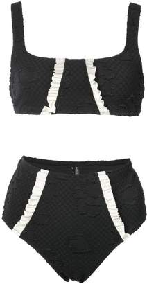 Morgan Lane high waisted jacquard Lusiana bikini set