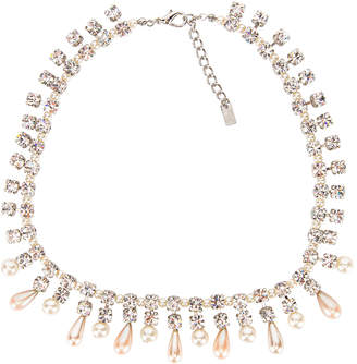 Alessandra Rich Pearl Drops Necklace in Crystal & Pearl | FWRD