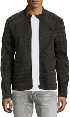 G-Star Suzaki Denim Slim Jacket, Slander $300 thestylecure.com