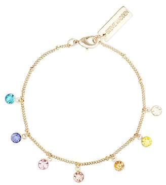 Steve Madden Multicolored Glass Stone Bracelet