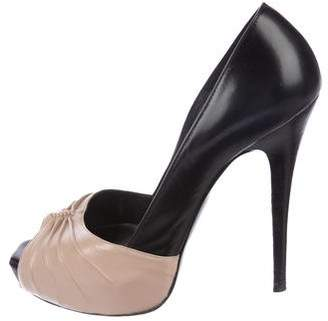 Barbara Bui Leather Platform Pumps