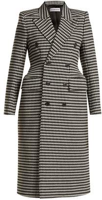 Balenciaga Hourglass double-breasted houndstooth coat
