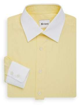 Brioni Contrast Collar Dress Shirt