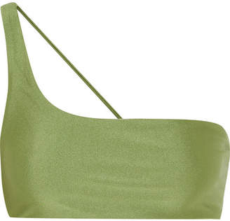 JADE SWIM Apex One-shoulder Bikini Top - Sage green