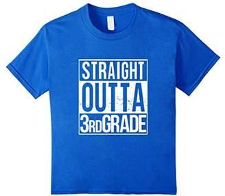 Straight Outta Third Grade T Shirt Class 3 Pass 3rd Student