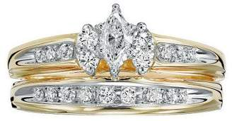 Affinity Diamond Jewelry Marquise Diamond 2-Piece Ring Set, 14K, 1/2cttw, by Affinity